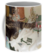 Falls Asleep While Destroying Tiny Town Coffee Mug