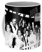 Families Waving And Greeting The Return Coffee Mug