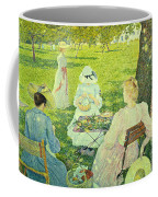 Family In The Orchard Coffee Mug