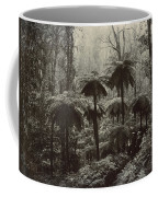 Family Walking Through A Forest Of Tree Coffee Mug