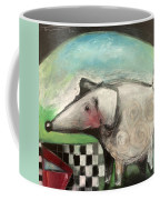 Fancy Dog At Picnic With Water Dish Coffee Mug