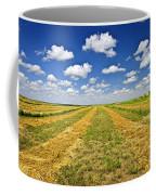 Farm Field At Harvest In Saskatchewan Coffee Mug
