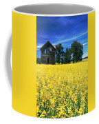 Farm House And Canola Field, Holland Coffee Mug
