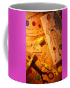 Fashion Old Dress Pattern Coffee Mug by Garry Gay
