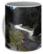 Fast Rapids On Firehole River Yellowstone  Coffee Mug