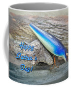 Fathers Day Greeting Card - Vintage Floyd Roman Nike Fishing Lure Coffee Mug
