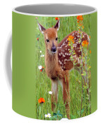 Fawn In Flowers Coffee Mug