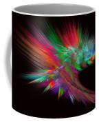 Feathery Bouquet On Black - Abstract Art Coffee Mug