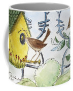 Feeding The Baby Wrens Coffee Mug