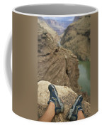 Feet Shod In River Shoes On An Overlook Coffee Mug by Bobby Model