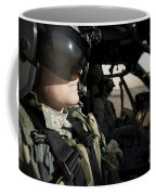 Female Pilot Commander In The Cockpit Coffee Mug