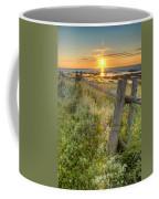 Fence Along The Shore Coffee Mug