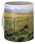 Fence And Barley Crop, Near Waterton Coffee Mug