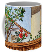 Fence And Roses Sketchbook Project Down My Street Coffee Mug by Irina Sztukowski