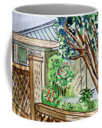 Fence Sketchbook Project Down My Street Coffee Mug by Irina Sztukowski