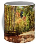 Fenced Path Through Autumn Forest - Blacksmith Fork Canyon - Utah Coffee Mug