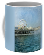 Ferris Wheel On The Santa Monica Pier Coffee Mug
