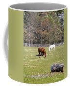 Field Of Horses Coffee Mug