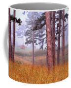 Field Pines And Fog In Shannon County Missouri Coffee Mug