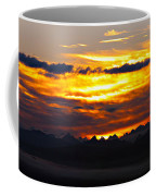 Fiery Sunrise Over The Cascade Mountains Coffee Mug