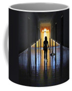 Figure In The Corridor Coffee Mug