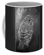 Finch Black And White Coffee Mug