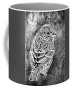 Finch Grungy Black And White Coffee Mug