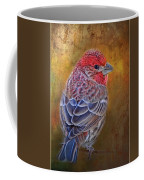 Finch With Gold Texture Coffee Mug