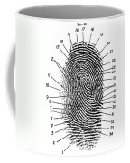 Fingerprint Diagram, 1940 Coffee Mug
