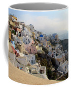 Fira In Santorini Coffee Mug
