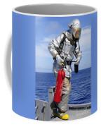 Firefighter Carries A Co2 Fire Coffee Mug
