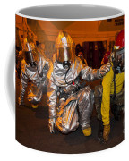 Firemen Brace For Shock Coffee Mug by Stocktrek Images