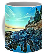 First Light At Bass Harbor Coffee Mug