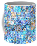 First Time Geometric Blue Coffee Mug