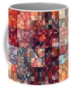 First Time Geometric Red Coffee Mug