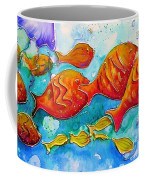 Fish Abstract Painting Coffee Mug