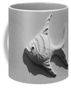 Fish And Shadow Face In Black And White Coffee Mug