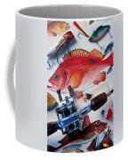 Fish Bookplates And Tackle Coffee Mug by Garry Gay