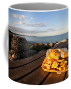 Fish 'n' Chips By The Beach Coffee Mug by Rob Hawkins