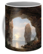 Fisherman In A Grotto Helgoland Coffee Mug by Christian Ernst Bernhard Morgenstern