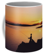 Fishing At Sunset, Roaring Water Bay Coffee Mug