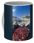 Fishing Boats And Nets In The Marina Coffee Mug