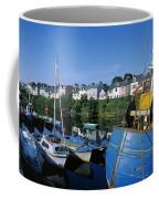 Fishing Boats At A Harbor, Roundstone Coffee Mug