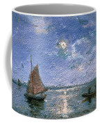 Fishing Boats By Moonlight Coffee Mug