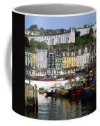Fishing Boats Moored At A Harbor, Cobh Coffee Mug