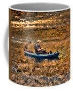 Fishing The Golden Hour Coffee Mug by Steven Richardson