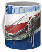 Fishing Vessel In Winter's Rest Coffee Mug