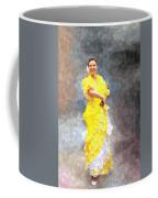 Flamenco Dancer In Yellow Coffee Mug