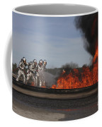 Flames Billow Out Of The Burn Pit Coffee Mug