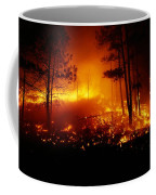 Flames From A Forest Fire Light Coffee Mug